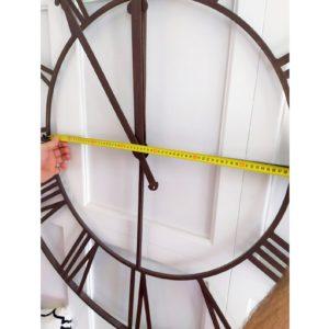 Часы кованые (циферблат металлический)